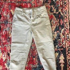 Pants - Women's light green khaki skinny pant